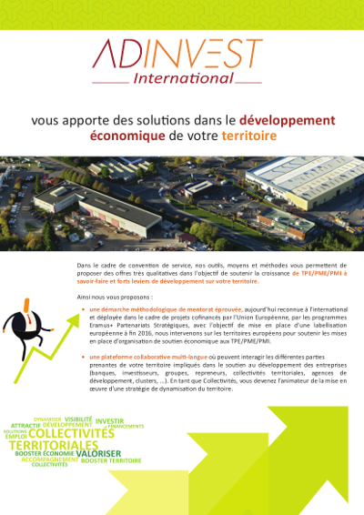 Flyer Collectivites ADINVEST